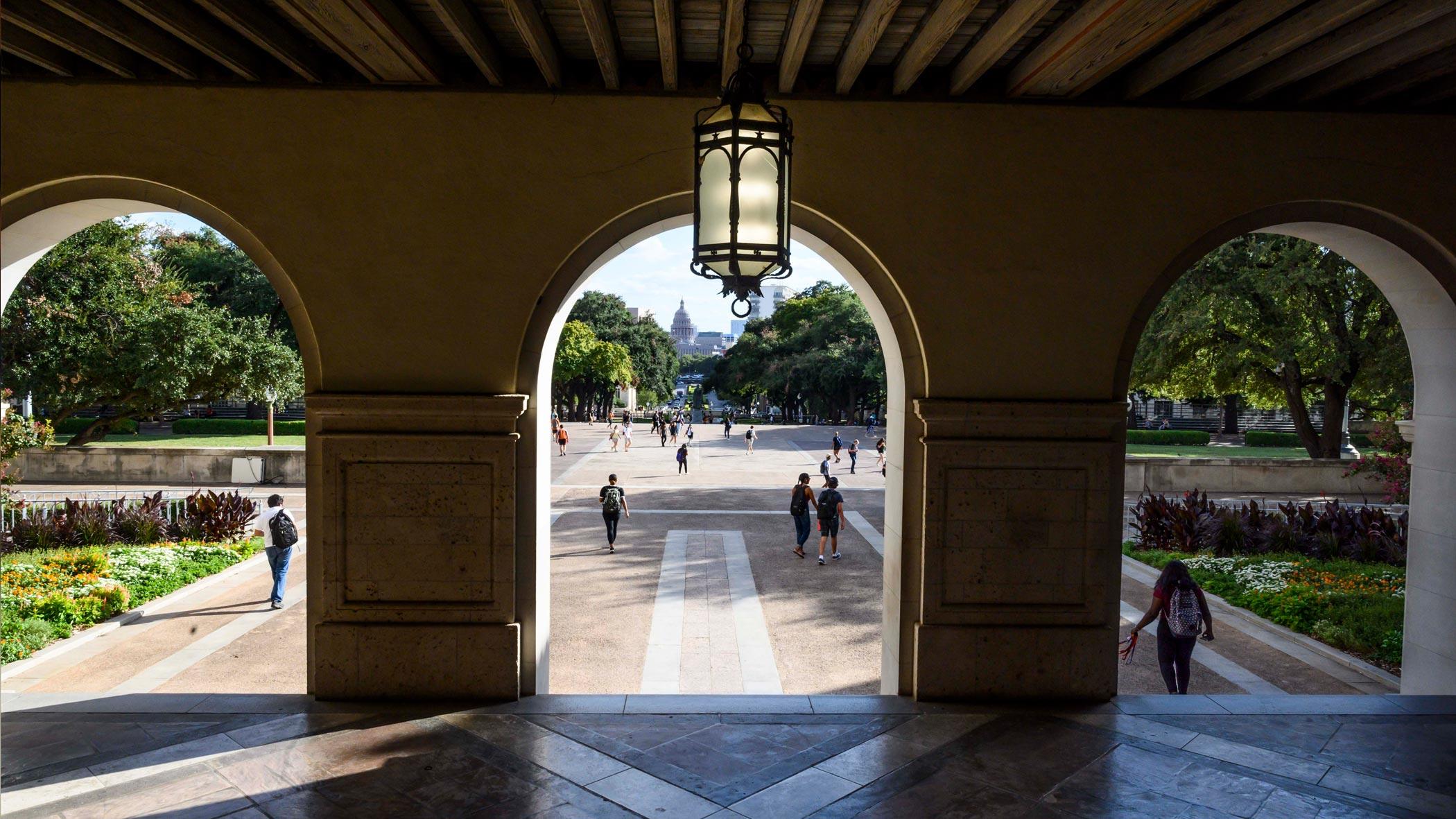 Arches of Main Building on UT Austin Campus
